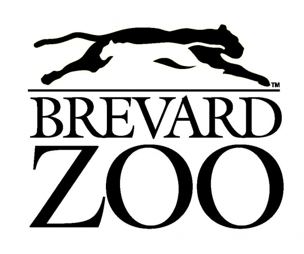 The Brevard Zoo logo (black and white with a panther over the letters)